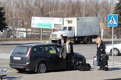 De taxi van Moskou Royalty-vrije Stock Afbeelding