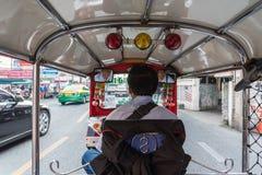 De taxi van Thailand tuk-Tuk is een driewieler Stock Afbeeldingen