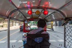De taxi van Thailand tuk-Tuk is een driewieler Royalty-vrije Stock Foto's