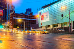 De taxiauto's van Melbourne in stad royalty-vrije stock fotografie