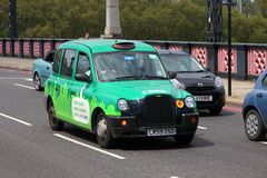De taxicabine van Londen Stock Afbeelding