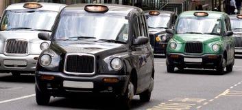 De Taxicabines van Londen Royalty-vrije Stock Foto