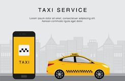 De taxidienst app stock illustratie