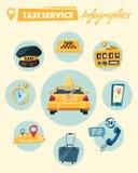 De taxidienst De vectorillustratie van het beeldverhaal Royalty-vrije Stock Foto