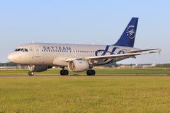 A320 de Tchèque Photographie stock libre de droits