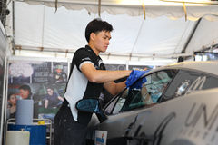 De teamdienst op ras in de super reeks van Thailand Stock Foto
