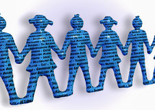 De teamholding overhandigt beter samen sleutelwoordengroepswerk Royalty-vrije Stock Fotografie