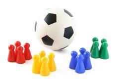 De Teams van het voetbal stock foto