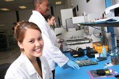 De Technici van de computer Stock Afbeeldingen