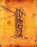 De techniek van Leonardo royalty-vrije stock afbeeldingen