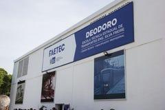 De technische school werd geopend met Olympische het Comité van Rio 2016 middelen Stock Foto's