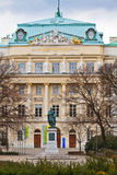 De Technische Universitaire HoofdIngang van Wenen Stock Foto's