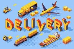 De Technologieën van het de WegLuchtvervoer van de leveringsuitvoer royalty-vrije illustratie