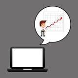 De technologie economische grafiek van de zakenmanolie royalty-vrije illustratie
