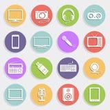 De technologie en van verschillende media pictogrammen Royalty-vrije Stock Foto