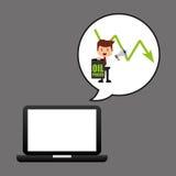 De technologie lage prijs van de zakenmanolie stock illustratie