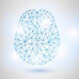 De technologie poly conception bas de l'esprit humain avec Digits-2 binaire Photos libres de droits