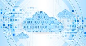 De technologie van de bedrijfs Webwolk abstracte achtergrond Vector royalty-vrije illustratie