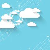 De technologie van de bedrijfs Webwolk abstracte achtergrond stock illustratie