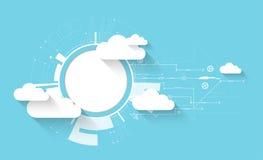 De technologie van de bedrijfs Webwolk abstracte achtergrond Stock Afbeeldingen