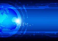 De technologie van de globalisering Stock Afbeelding