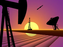De Technologie van de Industrie van het Gas van de olie royalty-vrije illustratie