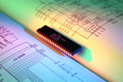 De Technologie van de microchip Stock Foto's