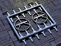 De Technologie van de microchip Royalty-vrije Stock Afbeelding