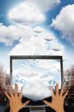 De technologie van de wolk Stock Afbeeldingen