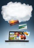 De Technologie van de wolk Stock Foto
