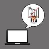 De technologie van de zakenmanolie royalty-vrije illustratie