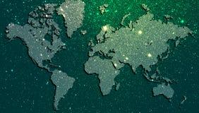 De technologie van het wereldnetwerk Technologiemededeling royalty-vrije stock afbeelding