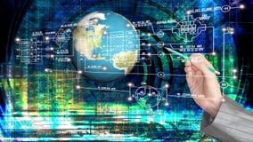 De technologie van Internet van de techniekcomputer Royalty-vrije Stock Afbeeldingen