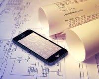 De technologie van Smartphone Stock Afbeeldingen