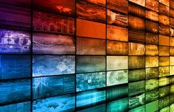 De Technologie van verschillende media Stock Fotografie