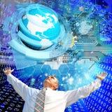 De technologie van verwezenlijkingssnelle internetdiensten Royalty-vrije Stock Afbeeldingen