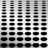 De technologieachtergrond met cirkel perforeerde de textuur van de metaalgrill voor internetsites, Webgebruikersinterface Stock Afbeeldingen
