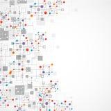 De technologieachtergrond van de netwerkkleur vector illustratie
