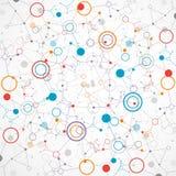 De technologieachtergrond van de netwerkkleur Stock Foto's
