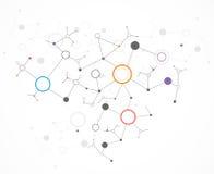De technologieachtergrond van de netwerkkleur Stock Afbeeldingen