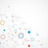 De technologieachtergrond van de netwerkkleur Stock Afbeelding
