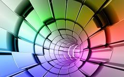 De technologieachtergrond van regenboogkleuren Stock Fotografie