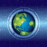 De technologieconcept van de wereld stock illustratie