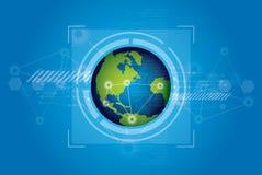 De technologieconcept van de wereld royalty-vrije illustratie