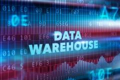 De technologieconcept van het gegevenspakhuis Stock Foto's