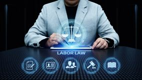 De Technologieconcept van Legal Business Internet van de Arbeidsrechtadvocaat stock afbeeldingen