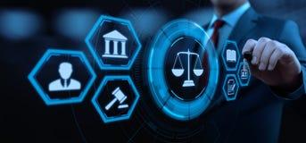 De Technologieconcept van Legal Business Internet van de Arbeidsrechtadvocaat stock fotografie