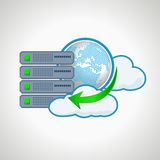 De technologieën van de wolk De server van het computerpictogram Ontwerp Stock Afbeeldingen