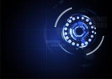 De technologische abstracte digitale achtergrond van de cyber lichte interface Royalty-vrije Stock Afbeeldingen