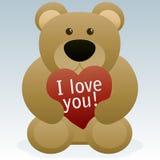 De Teddybeer van de Dag van valentijnskaarten Stock Fotografie